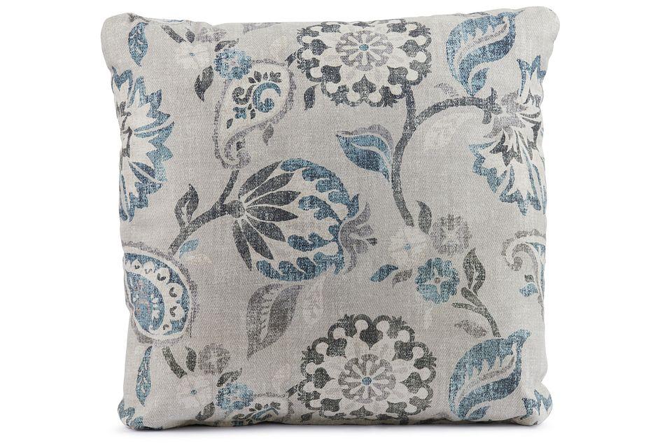 """Sylvie Blue 18"""" Square Accent Pillow"""