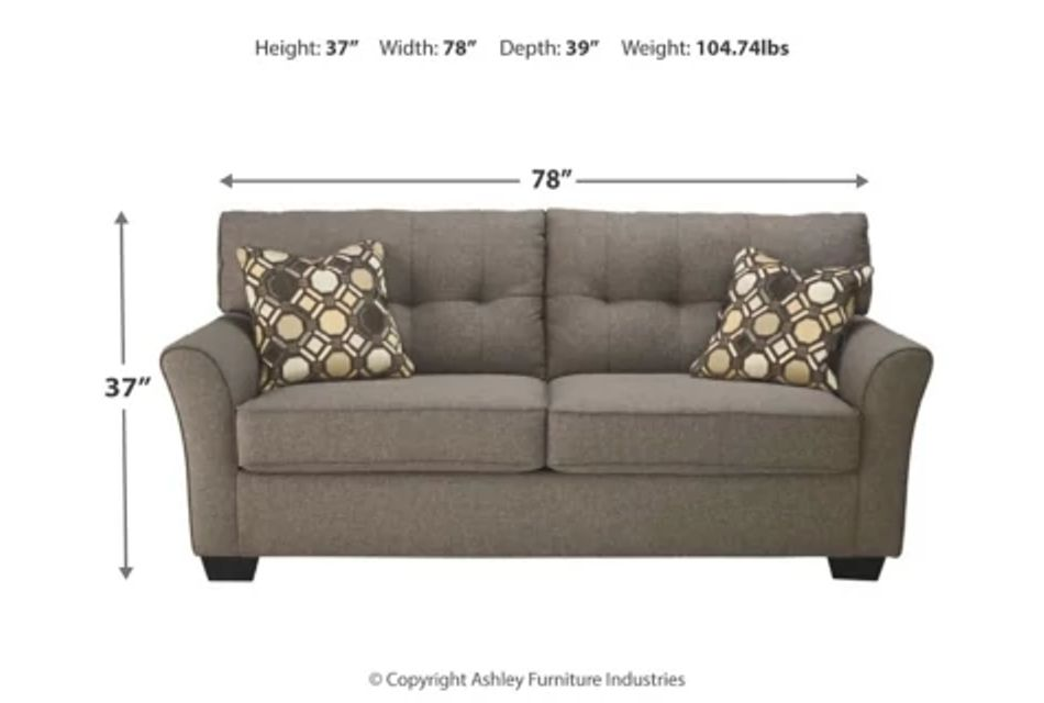 Laryn Dark Gray Micro Sofa