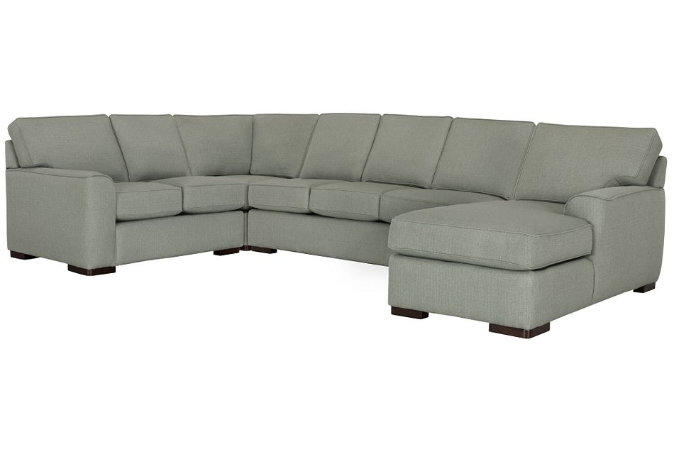 Austin Green Cool Mfoam Right Chaise Memory Foam Sleeper Sectional