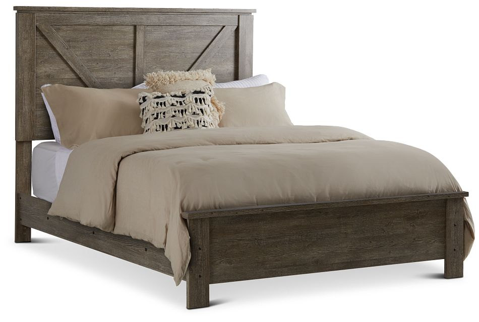 Blueridge Light Tone Panel Bed