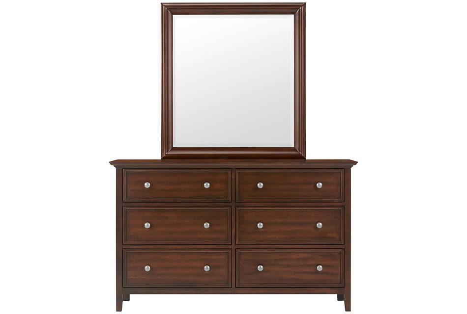 Spencer Mid Tone Dresser & Mirror