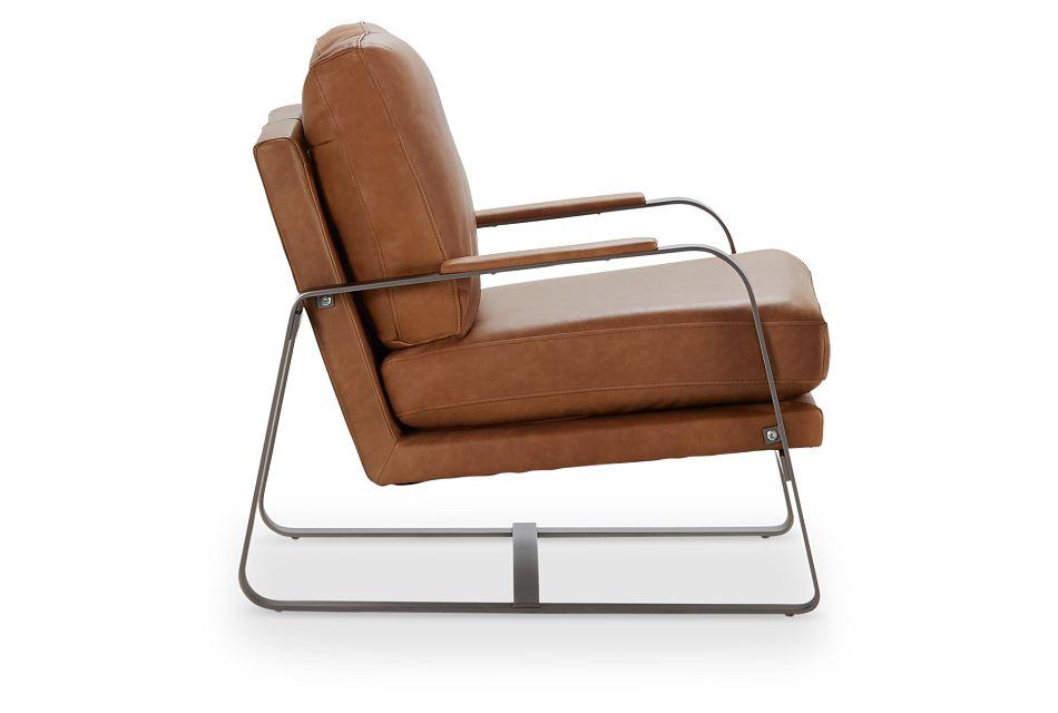 Lex Brown Lthr/vinyl Accent Chair, %%bed_Size%% (2)
