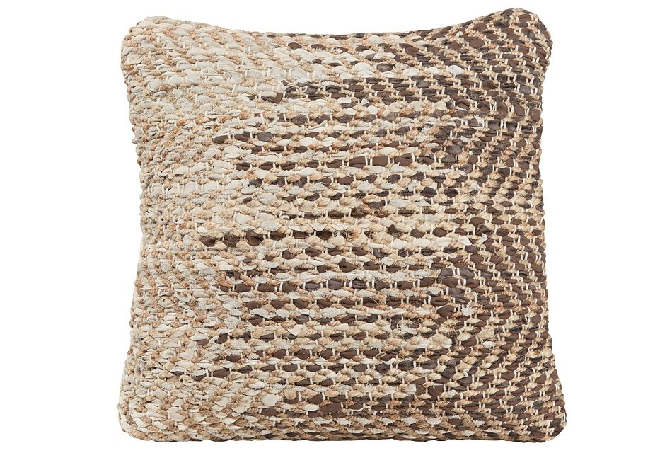 Messi Brown Accent Pillow