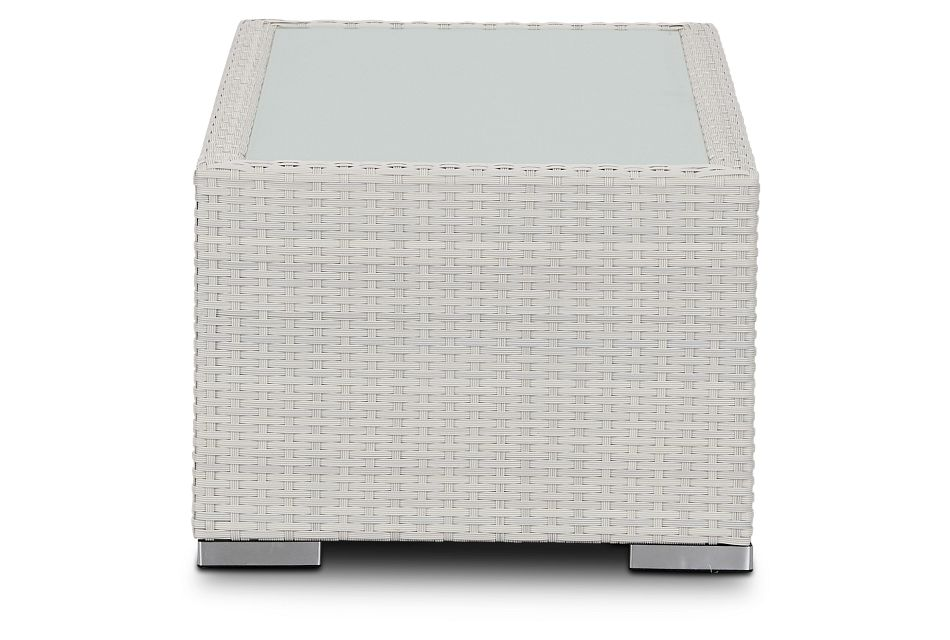 Biscayne White Rect Coffee Table