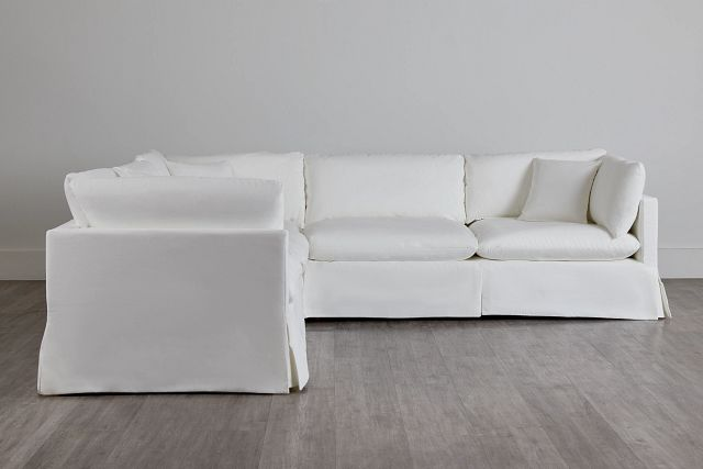 Raegan White Fabric Small Two-arm Sectional (0)