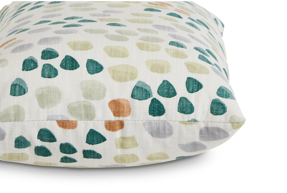 Pfeiffer Green Fabric Lumbar Accent Pillow,  (2)