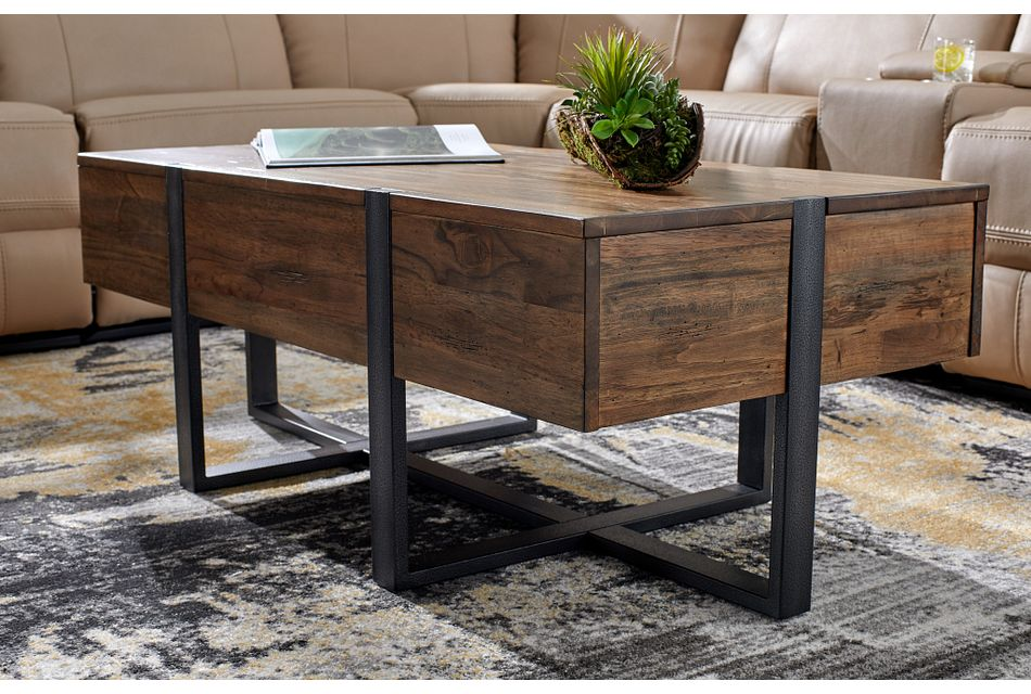 Prescott Mid Tone Rectangular Coffee Table