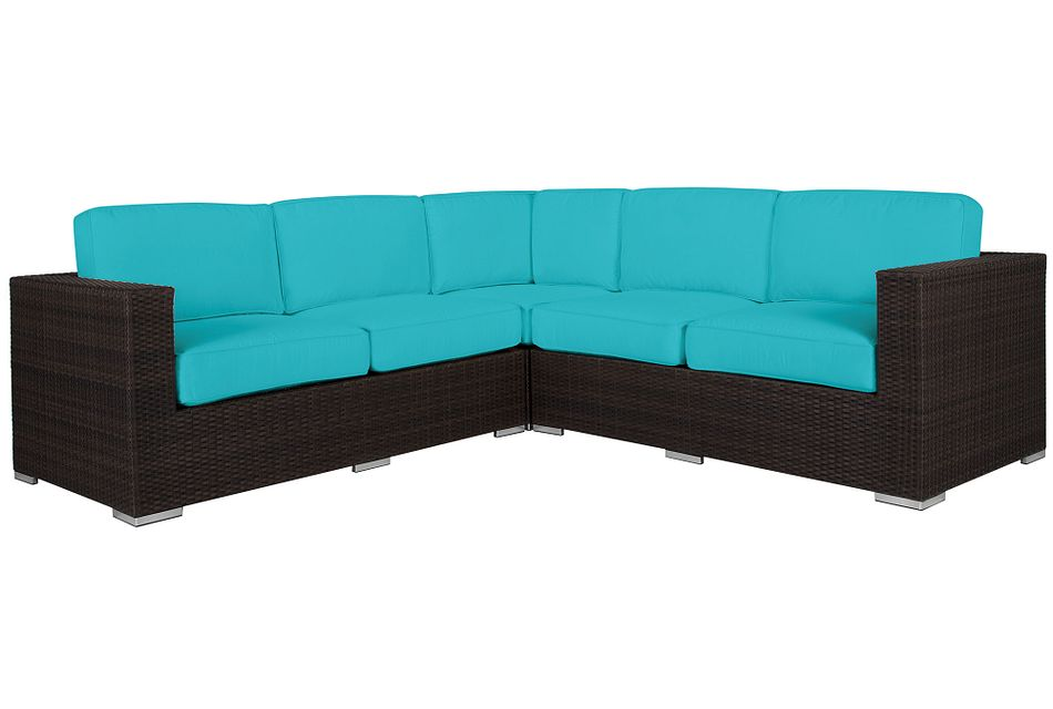 Fina Dark Teal Small Two-arm Sectional