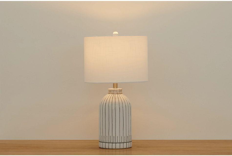 Pamina Gray Table Lamp
