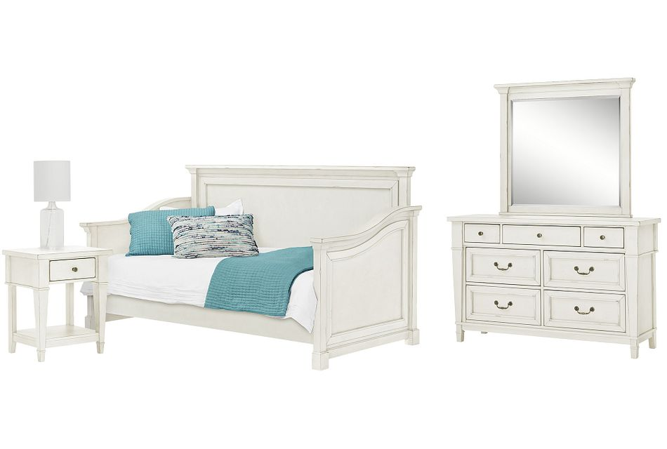 Stoney White Daybed Bedroom
