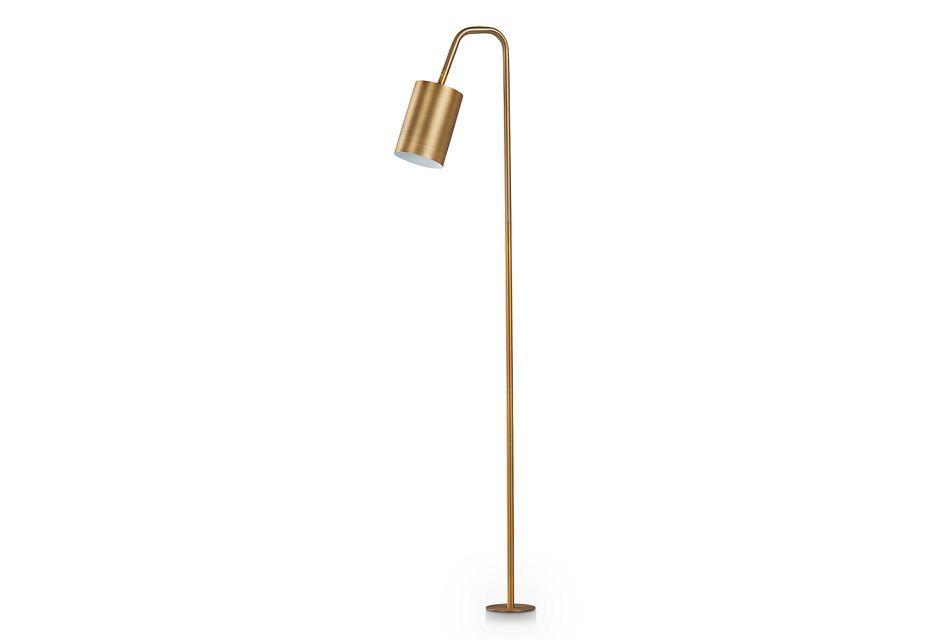 Winlock Gold Floor Lamp