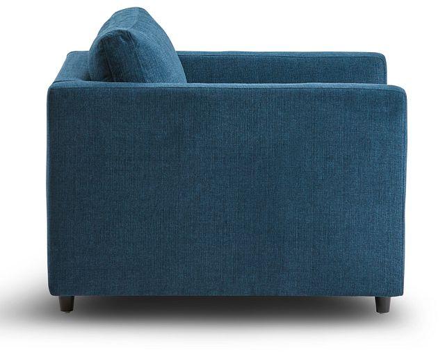 Simone Dark Blue Fabric Chair (2)
