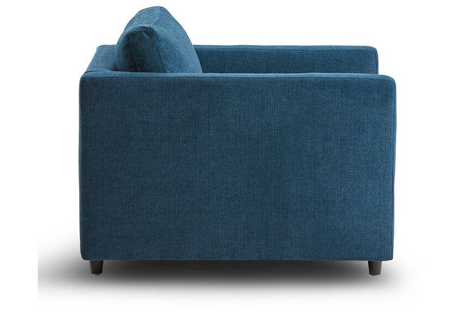 Simone Dark Blue Fabric Chair