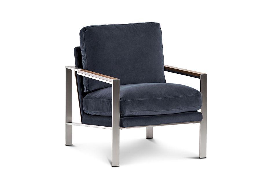 Wyatt Dark Gray Velvet Accent Chair