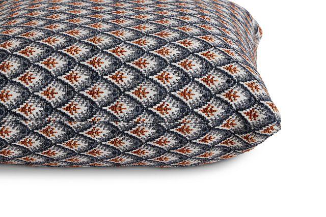 "Morgan Orange Fabric 20"" Accent Pillow (2)"