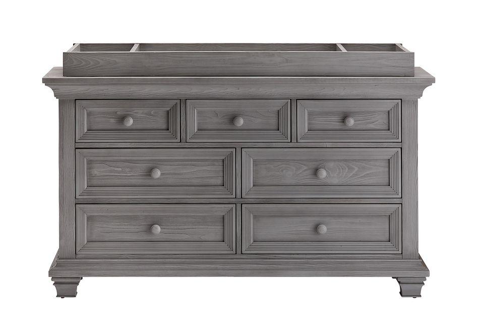 Westport Light Gray Dresser With Changing Top
