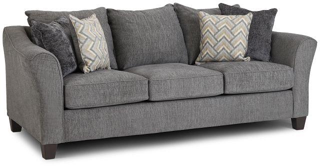 Maggie Dark Gray Fabric Sofa (2)