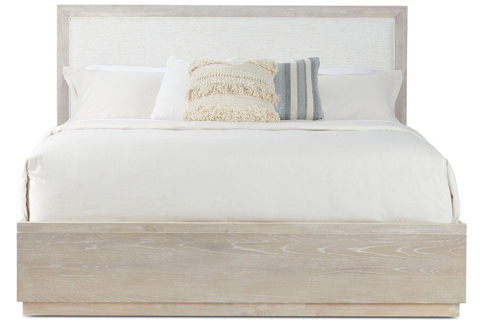 Boca Grande Two-tone Uph Platform Bed