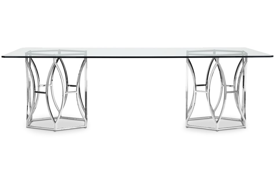 Argent Glass Rectangular Table,  (1)
