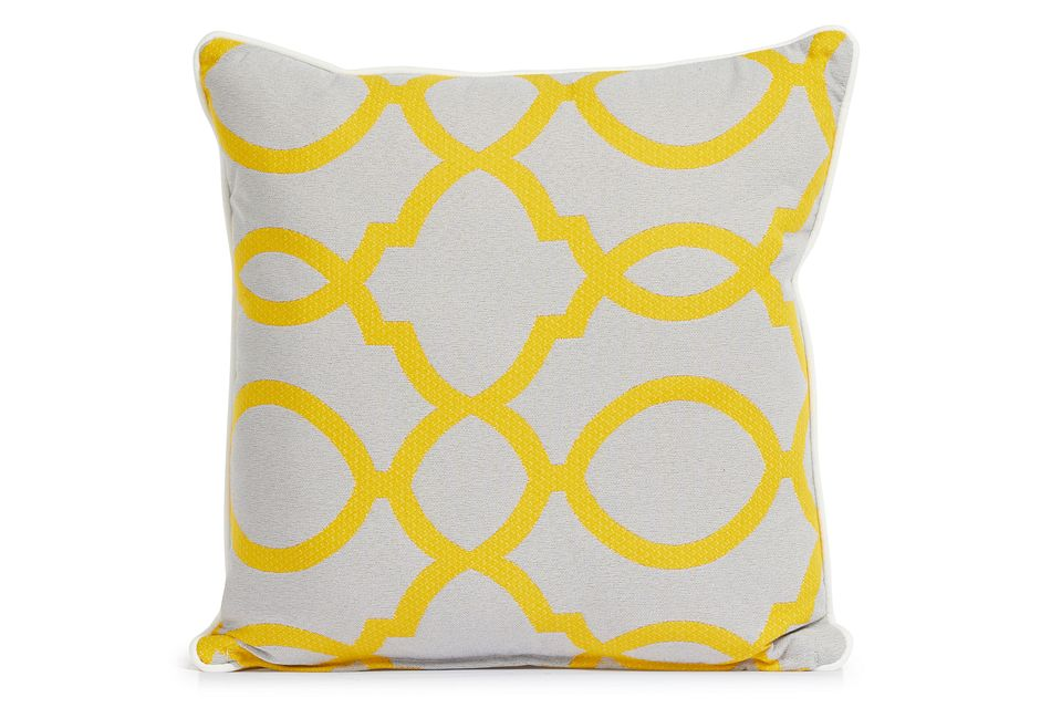 """Clover YELLOW 18"""" Indoor/Outdoor Square Accent Pillow,  (0)"""