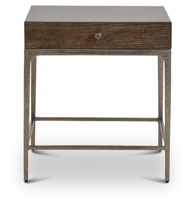 Linea Dark Tone Metal End Table (1)