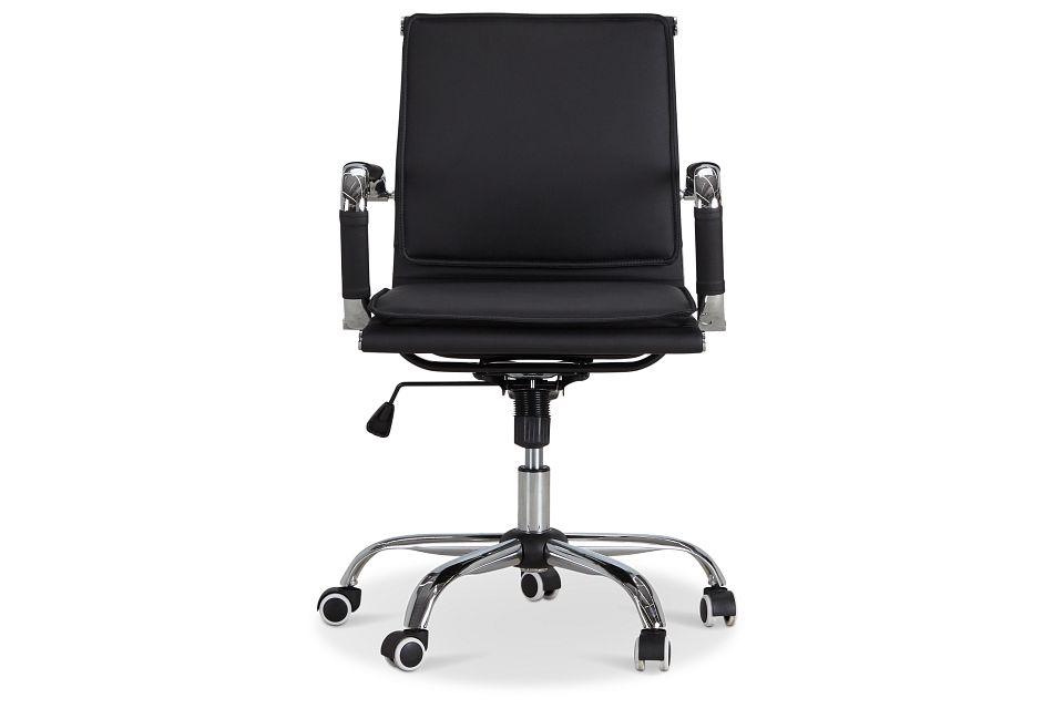 Denver Black Uph Desk Chair, %%bed_Size%% (3)