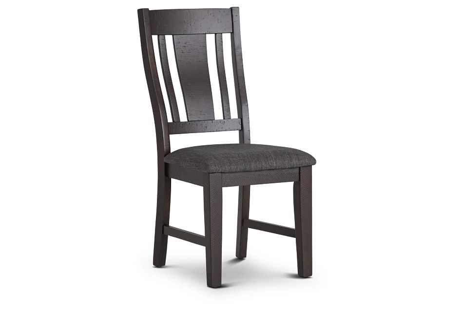 Cash Gray Upholstered Side Chair,  (1)