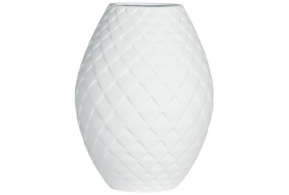 Bevel White Vase