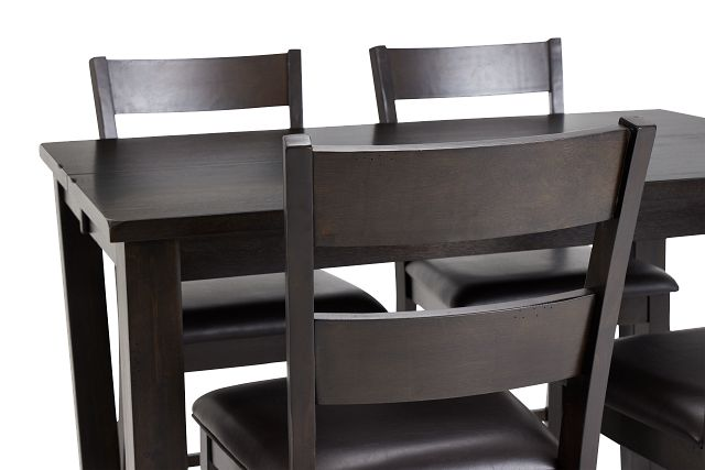 Navarro Dark Tone High Table & 4 Barstools
