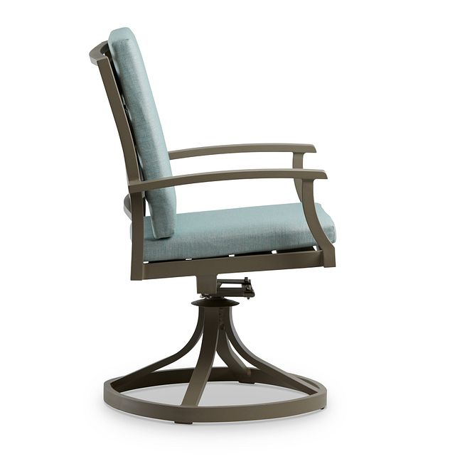 Raleigh Teal Swivel Arm Chair (1)