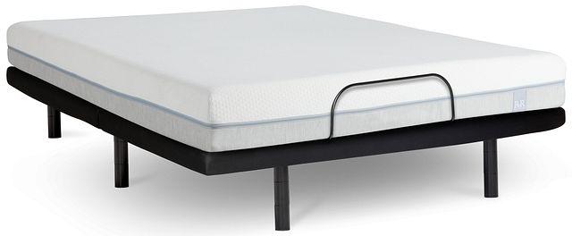 "Rest & Renew Memory Foam 8"" Silver Adjustable Mattress Set"