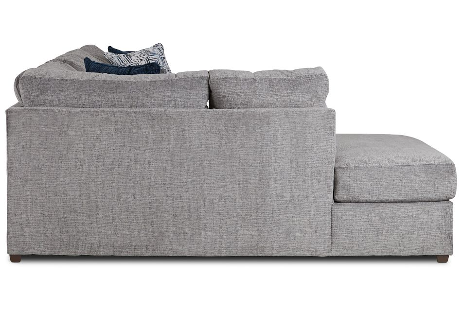 Banks Gray Fabric Left Bumper Sectional,  (2)