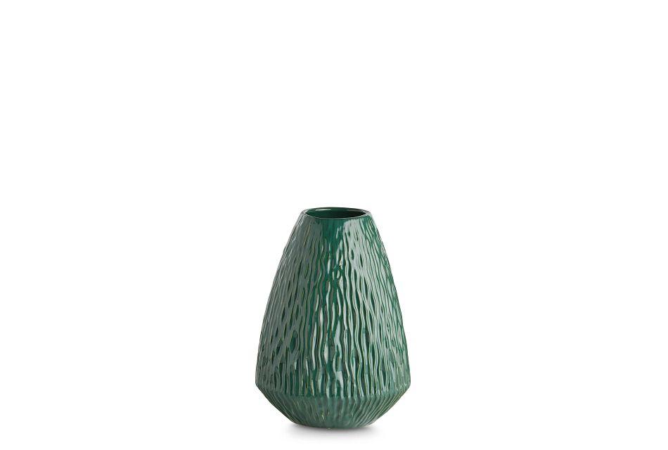 Vega Small Green Vase