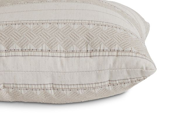 """Hermione Beige Fabric 18"""" Accent Pillow (2)"""