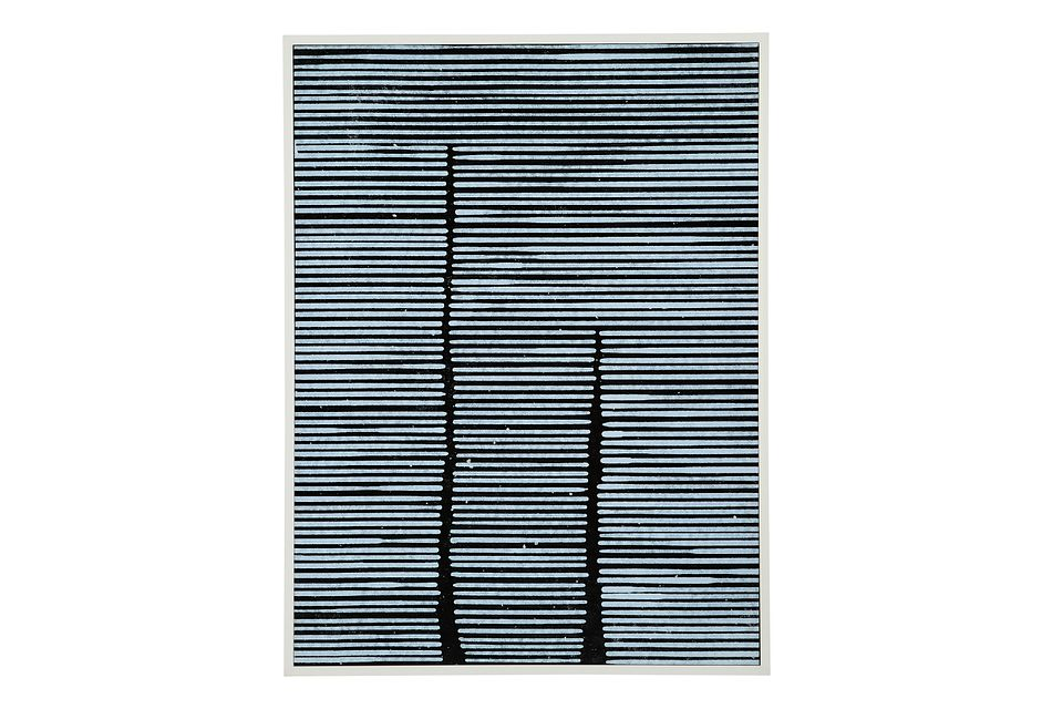 Lines Blue Canvas Wall Art