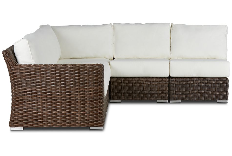 Southport White Left 5-piece Modular Sectional