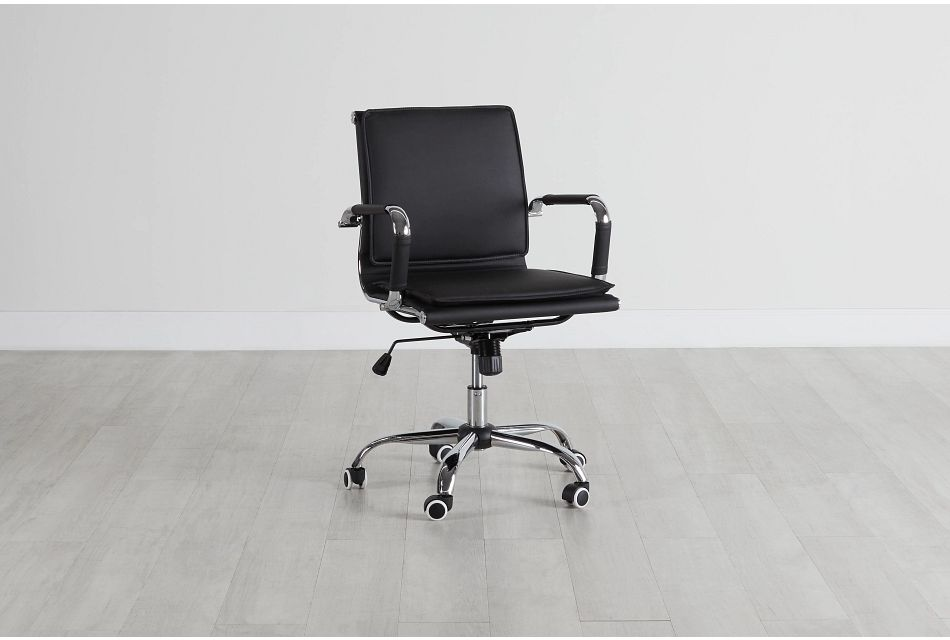 Denver Black Uph Desk Chair, %%bed_Size%% (0)