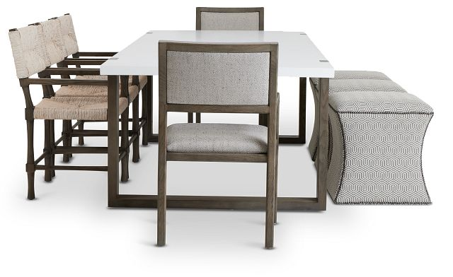 Hadleigh Two-tone Rectangular Table And Mixed Chairs (2)