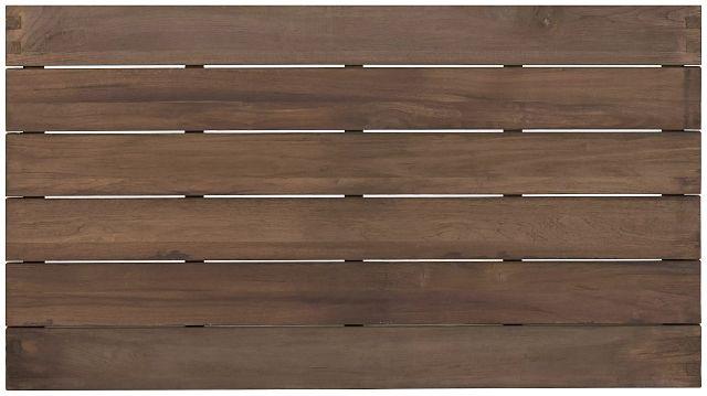 "Linear Teak 70"" Rectangular Table (3)"