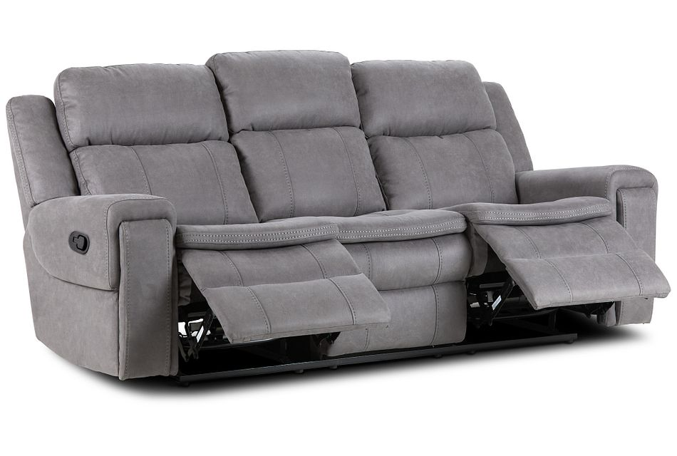 Scout Gray Micro Reclining Sofa,  (3)