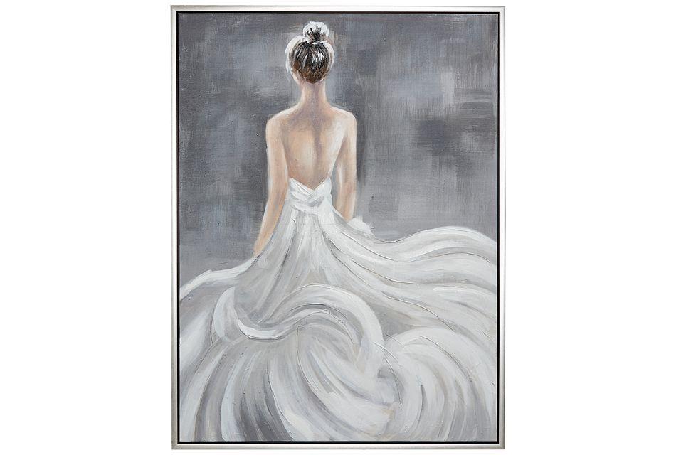Belle White Framed Canvas Wall Art