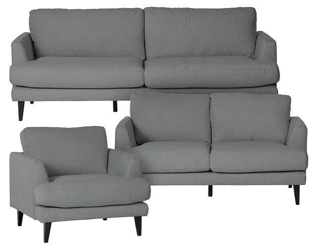 Fremont Gray Fabric Living Room