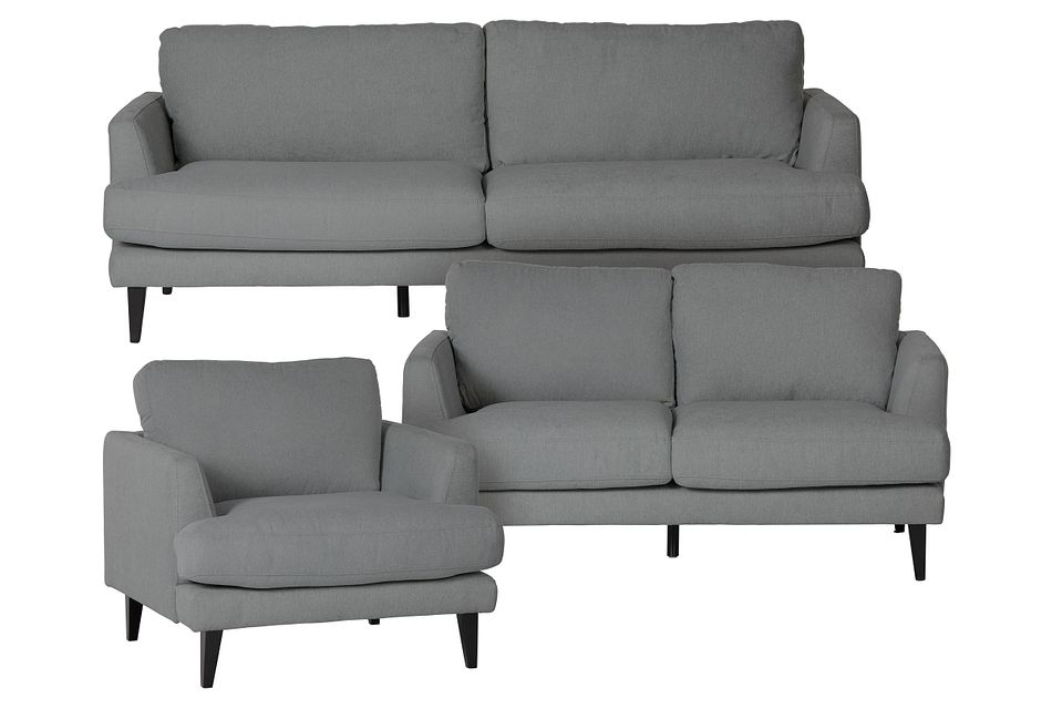 Fremont Gray Fabric Living Room
