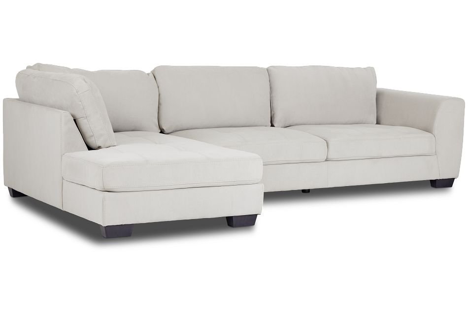 Perry Light Gray Micro Left Chaise Sectional,  (1)