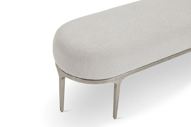 Linea Upholstered Metal Bench