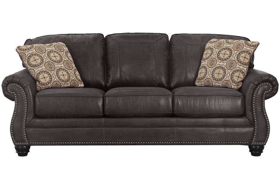 Breville Dark Gray Micro Sofa
