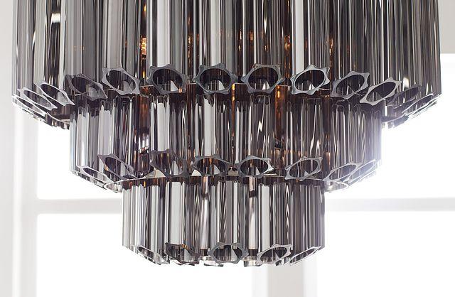 Camryn Black Glass Chandelier (2)