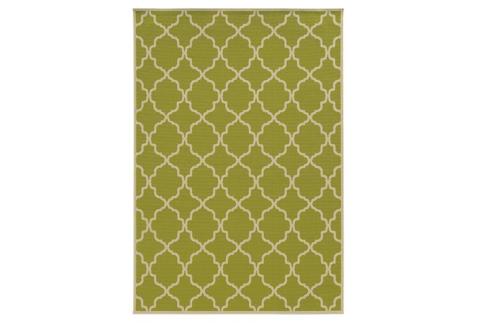 Rivy Green Indoor/outdoor 5x8 Area Rug