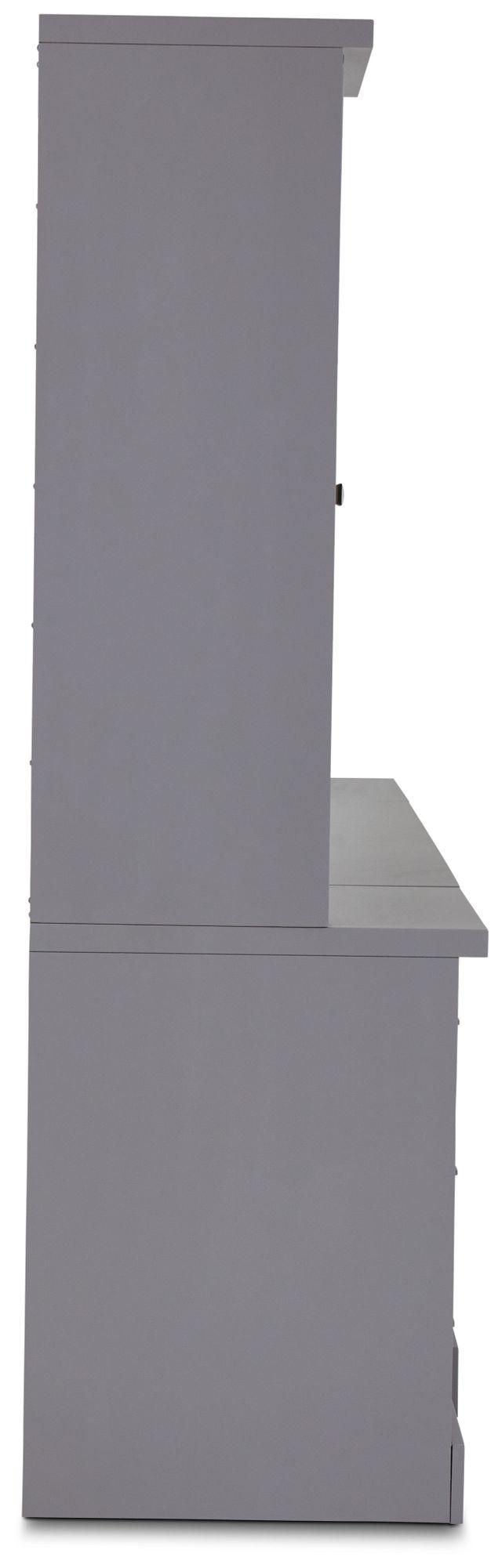 Newport Gray Drawer Wall Desk (3)