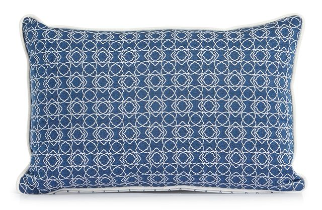 """Valley Blue 13"""" Indoor/outdoor Rectangular Accent Pillow (1)"""